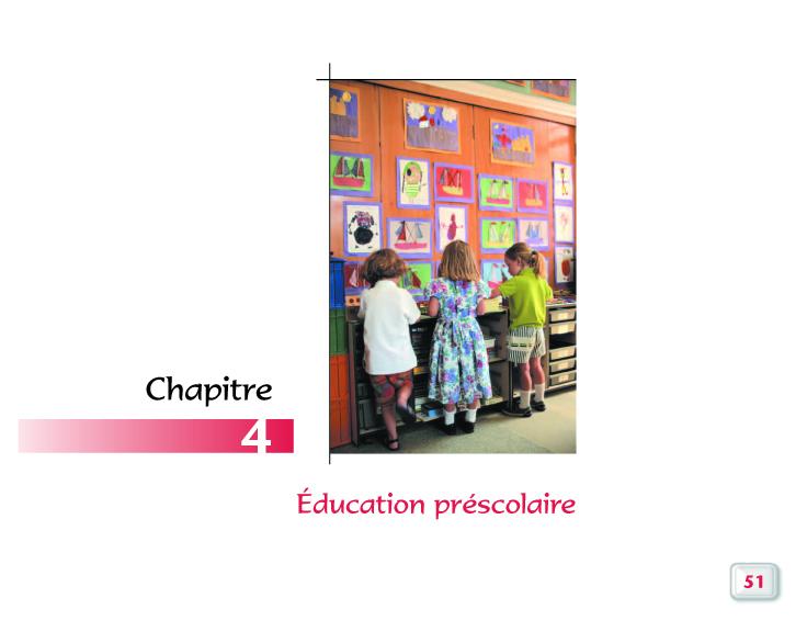 Programme éducation préscolaire
